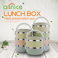 Best sell multi colors 1-4 layers stainless and plastic stackable bento lunch box