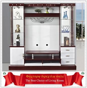 latest design modern corner tv cabinet led tv wall unit 9904 living