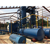 horizontal rotary reactor waste tyre recycling production line with good oil quality