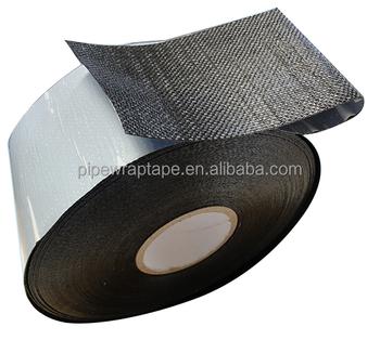 Self Adhesive Bitumen Tape / Anti Corrosion Tape / PP Woven Fiber Tape Mesh  Membrane Tape