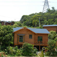 Prefabricated low cost small wooden house self assemble house with wooden floor holiday small log cabin log cottage
