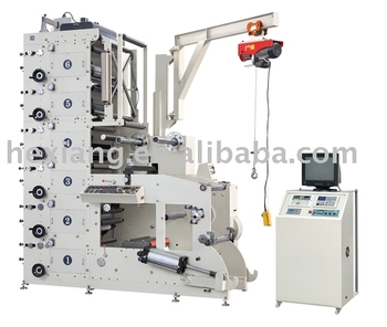 ry520 6b wine label beer flexographic label printing With beer label printing machine