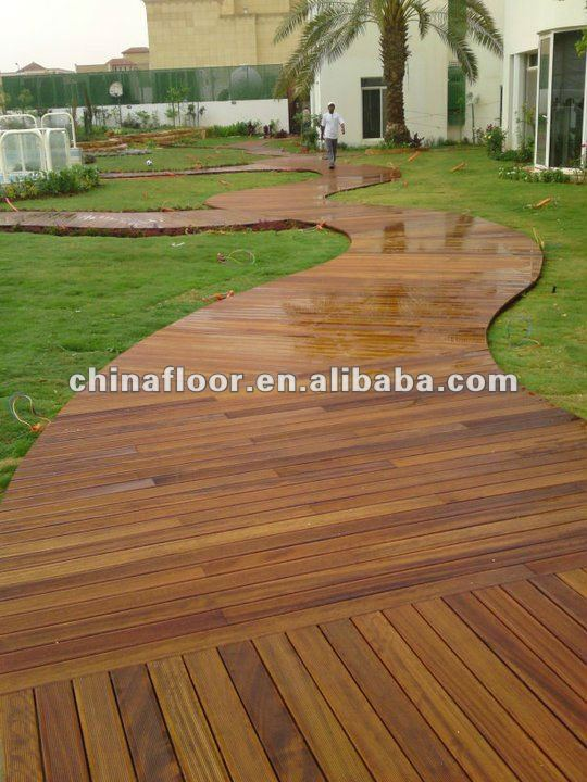 China Factory Outdoor exterior garden wood decking flooring
