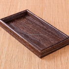 Custom logo vintage wooden tray burned effect wood trays