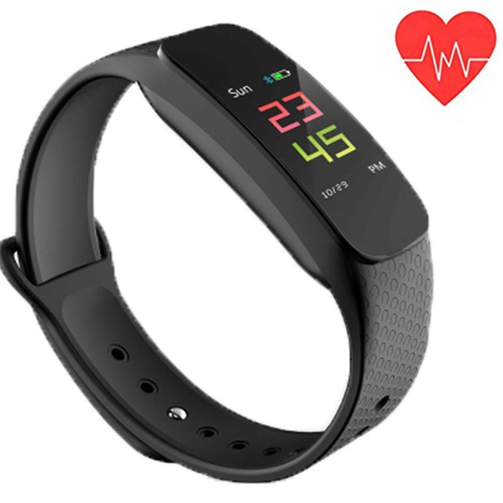 Fitness Tracker, Blood Pressure Heart Rate Monitor Waterproof Activity Tracker, Bluetooth Wireless Smart Bracelet with Android and iOS ……