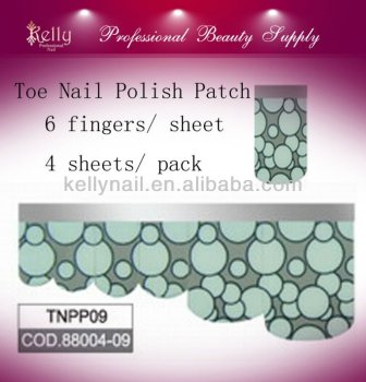 Full Cover Nail Polish Sticker Toe Nail Polish Patch Self-Adhesion Toe Nail Shell Strip