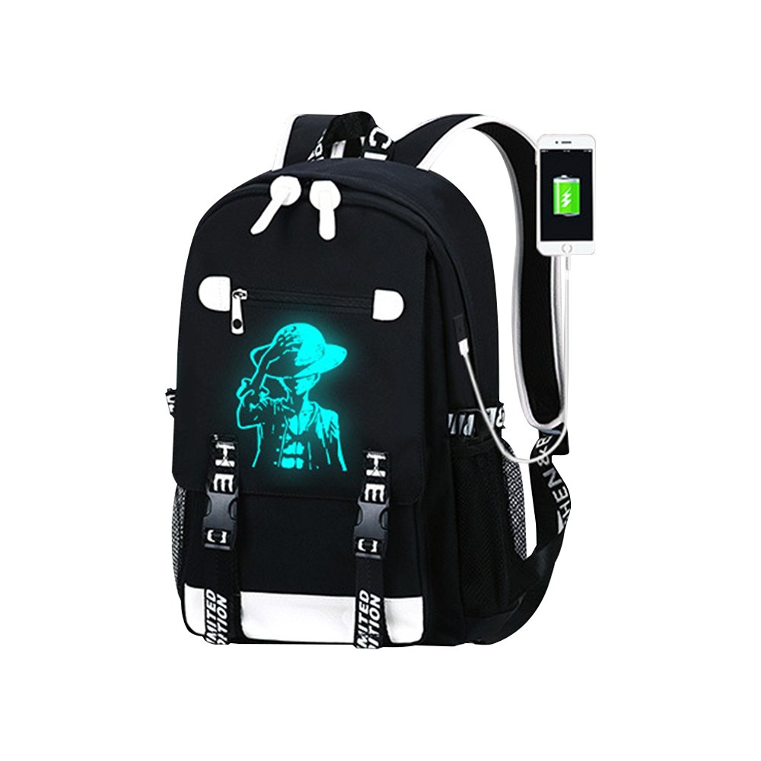 e6d9274bb58 Get Quotations · Anime Luminous Laptop Backpack,KINOMOTO Business Travel  Backpack with USB Charging Port School Bookbag for