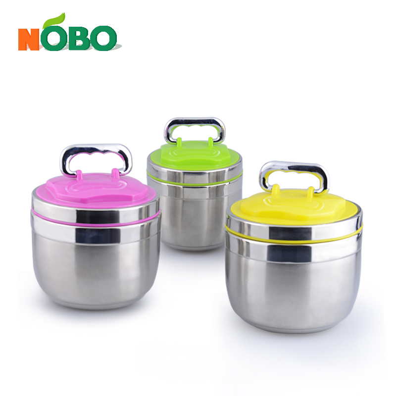 NOBO special design 2 layers stainless steel insulated tiffin lunch box food warmer carrier