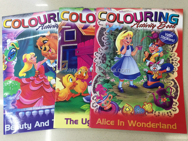 2020 up-to-date styling high quality kids coloring activity book with stickers