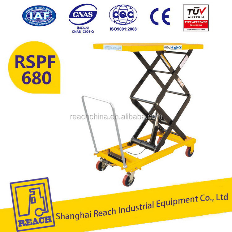Modern techniques new design manual stationary scissor lift table