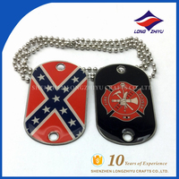 COPPER DOG TAGS U.S. MILITARY STYLE EMBOSSED WITH YOUR PERSONAL TEXT INFO TAGS