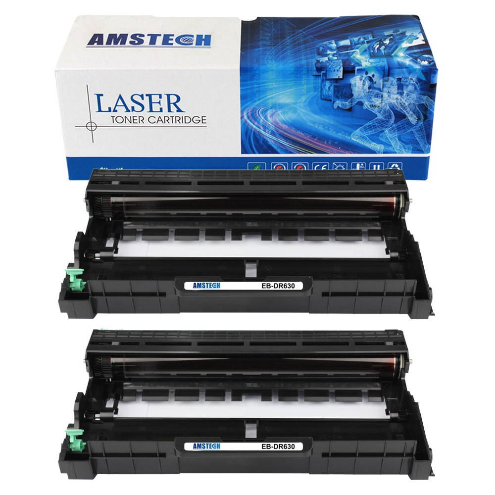2 Pack Amstech New Compatible Drum Unit Brother DR630 DR-630 DR 630 12,000 Page Yield For Brother HL-L2340DW HL-L2300D HL-L2380DW HL-L2320D DCP-L2520DW DCP-L2540DW MFC-L2700DW MFC-L2740DW MFC-L2720DW
