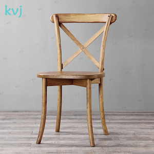 KVJ-8091new style dining room solid wood KD crossbaack chair