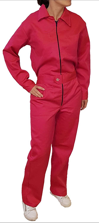 6e2e707cbd4 Get Quotations · DOFER Pink Overalls Women Work Coveralls Women Pink Work  Overalls Pink Overall Women