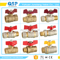 JUNXIANG free sample brass ball valve butterfly valve female and male manual by 1/2 inch