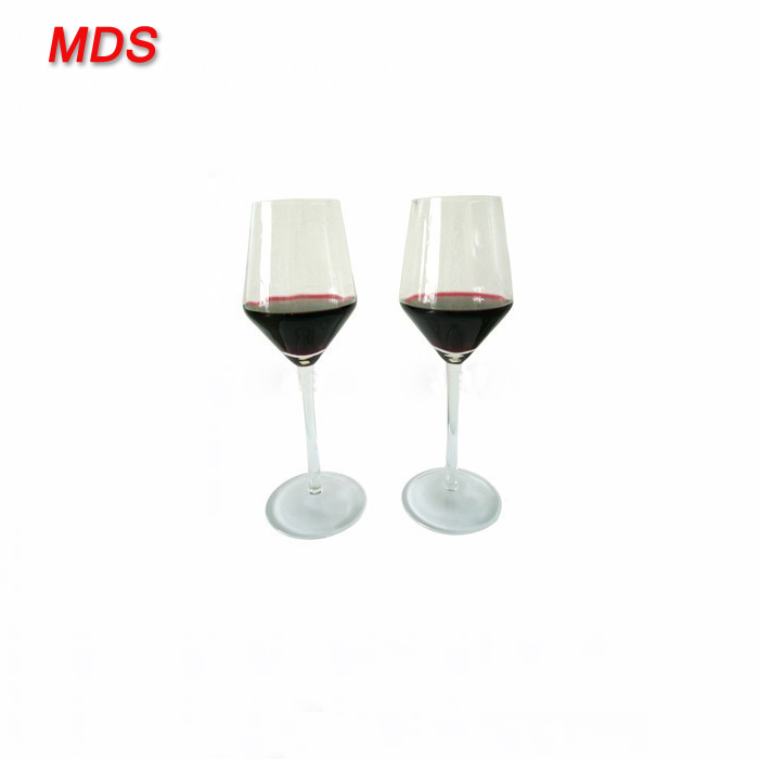 OEM design clear frosted stem quartz wine glass for wine