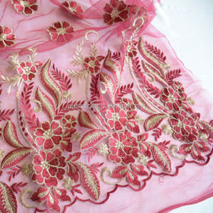 customized wedding embroidery lace fabric