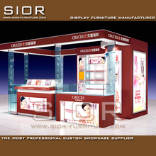 Modern Cosmetic Store Furniture/ Cosmetic Shop Interior Design/ Vivid Style Makeup Kiosk Design
