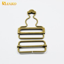 Classic metal brass adjustable gourd buckles for jean trousers