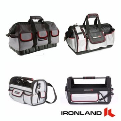 Ironland Mechanics Bucket Tool Bag Trolley Car Garden Electrician Backpack Tote Tool Bag With Wheels