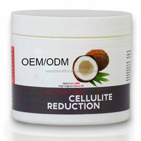 All Natural - Coconut Oil Minimizing Cellulite Reduction Cream For Smoother Younger Looking Skin