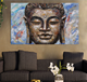 Hot High Quality 100% Handmade Framed Modern Buddha Decorative Wall Art Canvas Oil Painting