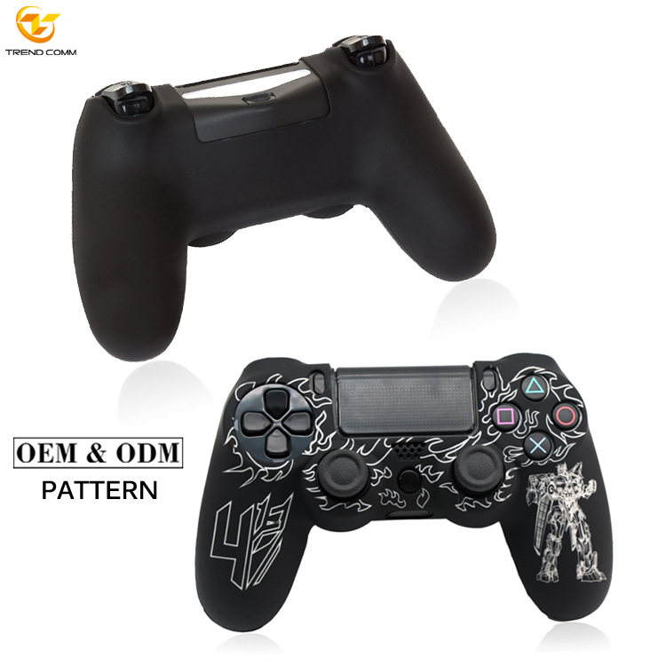 2019 Custom Waterproof Silicone Skin Video Games for PS4 Controller Case, Various colors are available