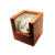 Burl Wood Look Finish 4-Setting Double Automatic Watch Winder With White Leather
