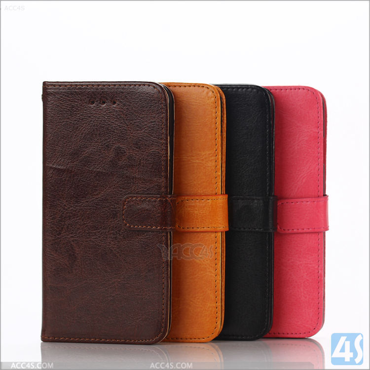 Luxury business office style magic wallet leather phone case for iphone 6s with pocket