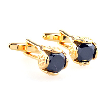 Wholesale Elegance Flower Bud Zircon Cuff Links