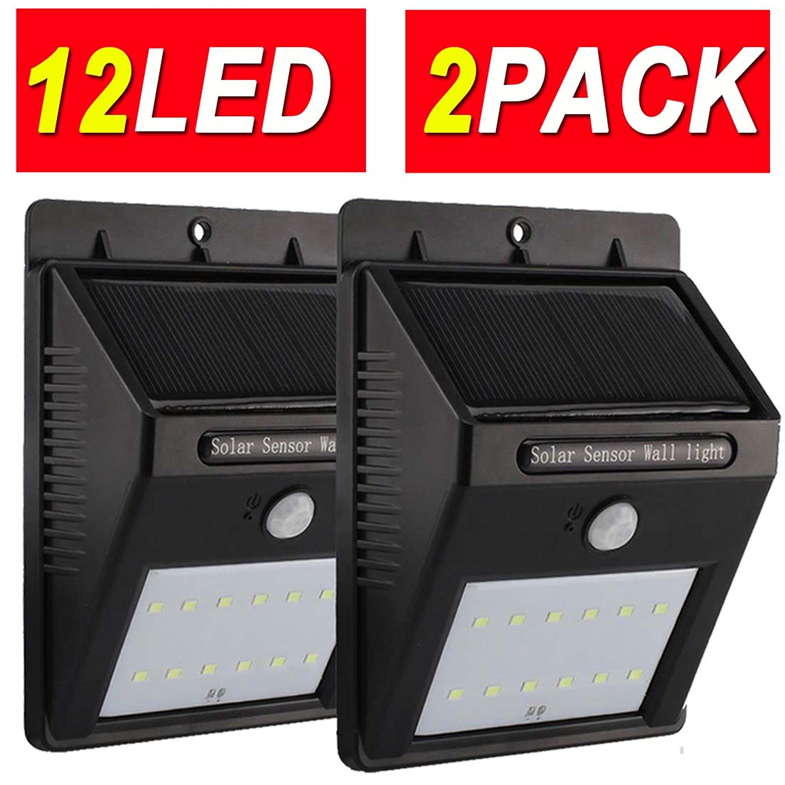 12LED 2PACK Promotion Upgraded Super Bright Sogrand Solar Motion Light Weatherproof Outdoor Solar Light Wireless Solar Motion Security Light Solar Motion Activated Security Light