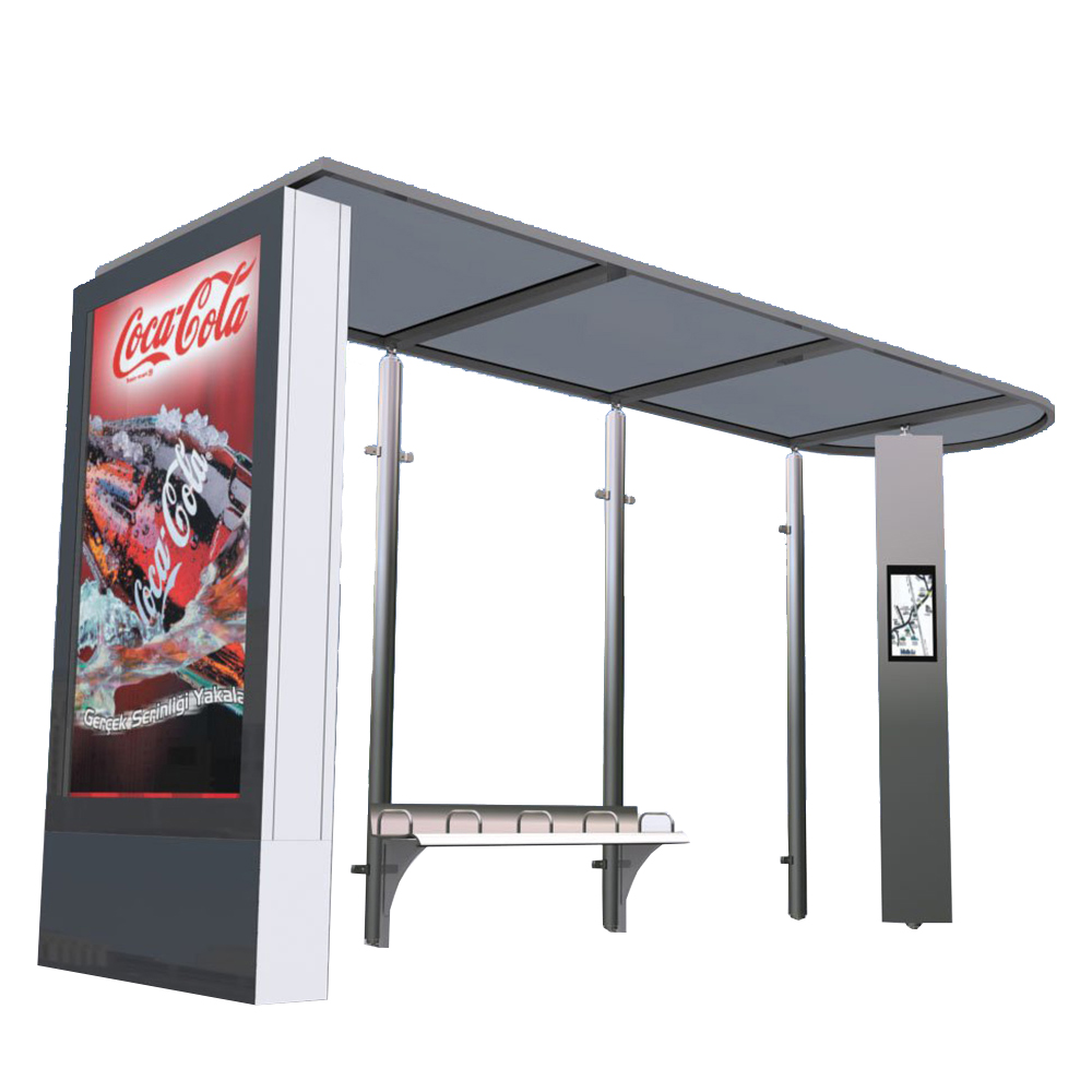 New arrival bus stop station waiting shed with chairs