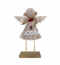 Christmas Wooden Decoration angel decorative on table xmas angel gifts for home