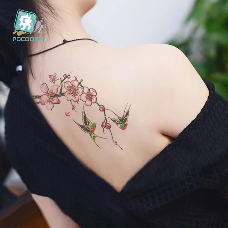 Novo Arrvial 2017 Fashional Desenhos Tatuagem De Flor De Lótus Borboleta Clavícula Falso Temporária Etiqueta Do Tatuagem Taty No Braço No Peito Do