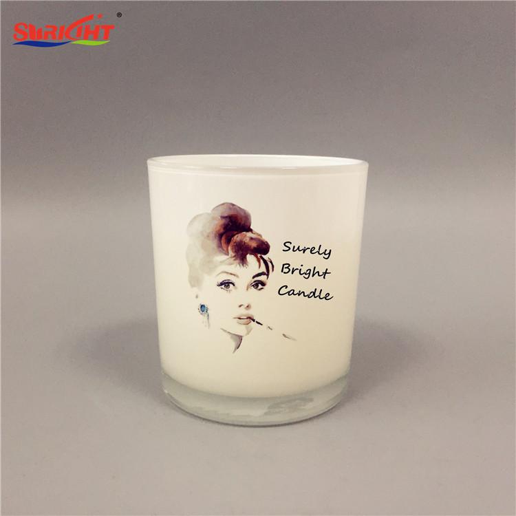 Handmade Decorative Custom Print Glass Candles in Gift Box
