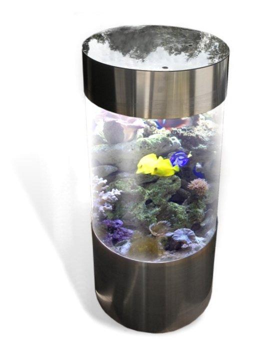 Aquarium deco for Cylindrical fish tank