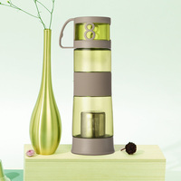 Plastic water bottle Sports Plastic water bottle with Stainless Steel filter