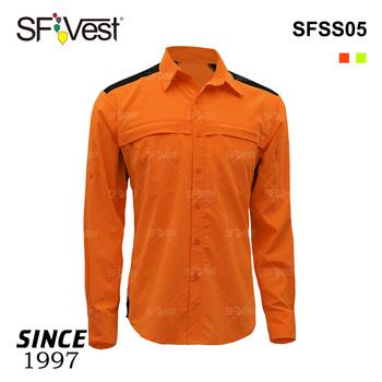 c405a6419 De manga larga de ripstop de seguridad camisas para hombres hi viz de  seguridad vial de