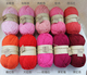 wholesale 50g Natural soft Silk Milk Cotton Yarn Thick Yarn For Knitting Baby Wool crochet scarfcoat Sweater weave thread
