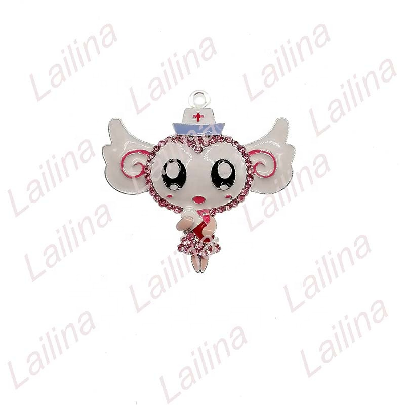 New Design Medical Nurse Angel wing Girl Pendant Charm Angel girl embracing pill Pendant/button, As picture