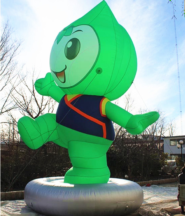 customized giant inflatable vegetable cartoon character for advertising