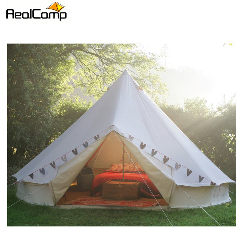 Alibaba.com / Luxury Glamping 100% Cotton Canvas Bell Tent 5m For Wedding