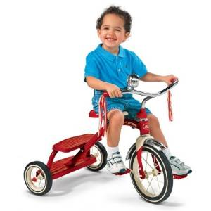 Radio Flyer Classic Red Dual-Deck Tricycle,Red