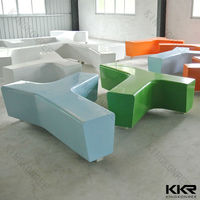 Acrylic solid surface limb design desk/ popular Y shape leisure stool