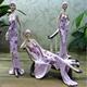 Elegant Lady Statue Chic Sitting Reclining Graceful Woman Figurine