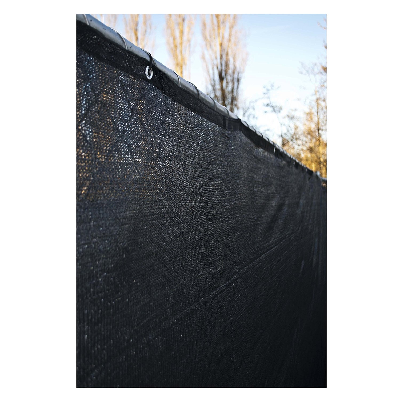 black vinyl privacy fence. Get Quotations · ALEKO 6 X 150 Feet Black Fence Privacy Screen Outdoor Backyard Fencing Windscreen Shade Cover Vinyl E