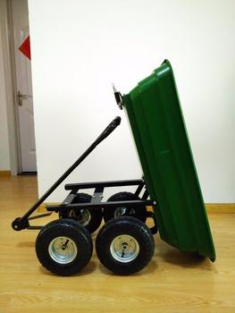 Gorilla Carts Lawn Tractor Attachments Heavy Duty Garden Poly Dump Cart 2  In 1