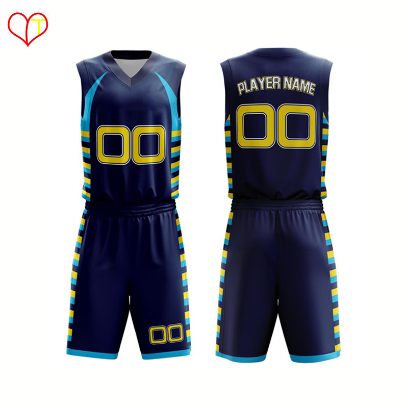 Günstige Sublimation Printed Kids Neueste Basketball Jersey Design 2016
