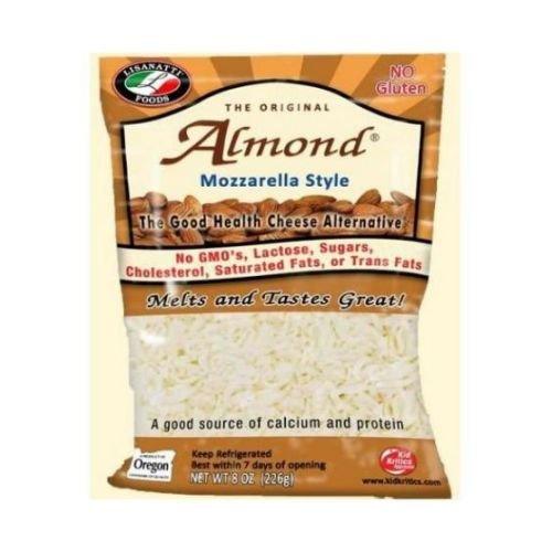 Lisanatti Mozzarella Style Almond Shred Cheese, 8 Ounce -- 12 per case.