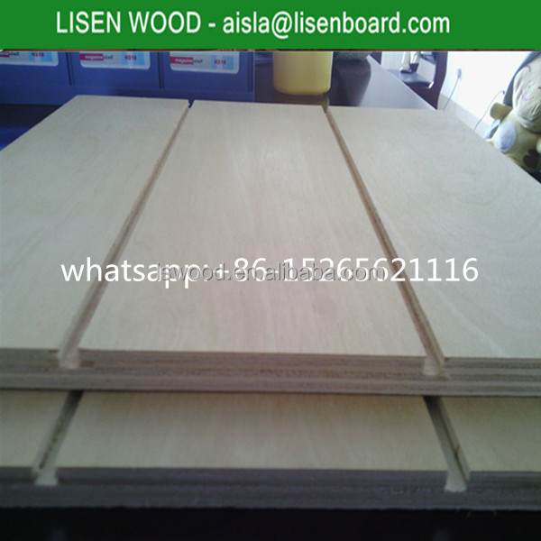 9mm/10mm Grooved pine plywood, Chile market slotted/grooved pine ply